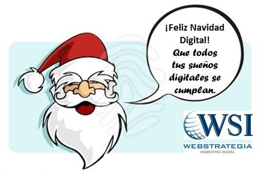 Felicitación de Navidad sobre marketing: deseos digitales