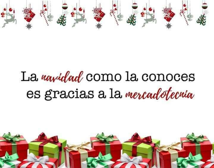 Tarjeta de felicitación de Navidad para marketeros