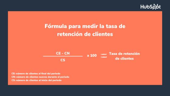 Fórmula para medir la tasa de retención de clientes