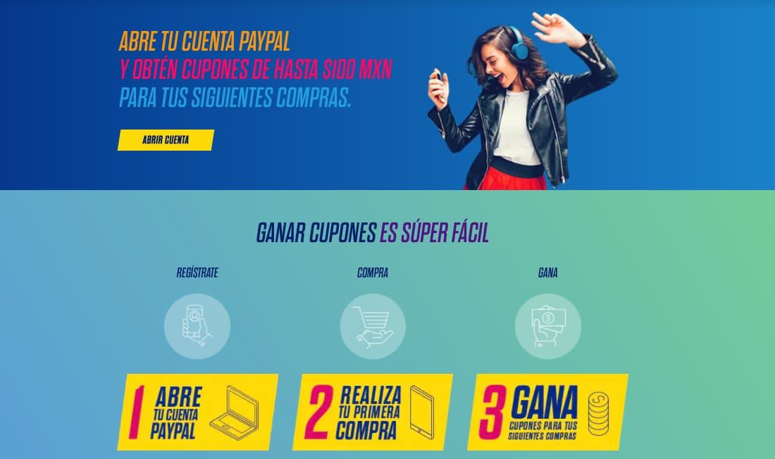 Descuento de PayPal para recompensar una compra