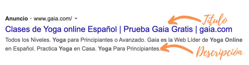 Google Ads en 2021: anuncio