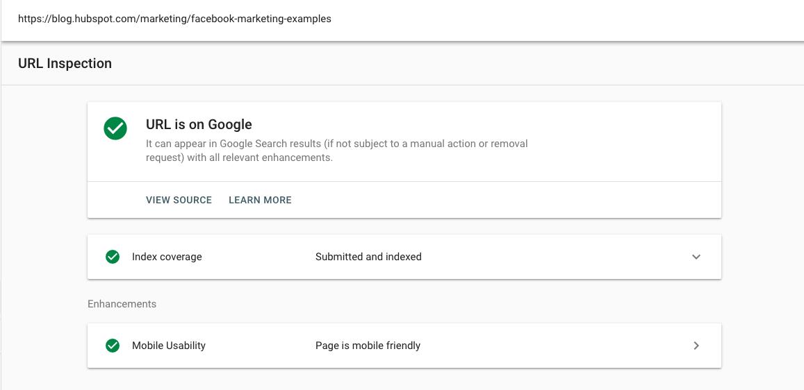 Google Search Console: cómo visualizar una URL como Google