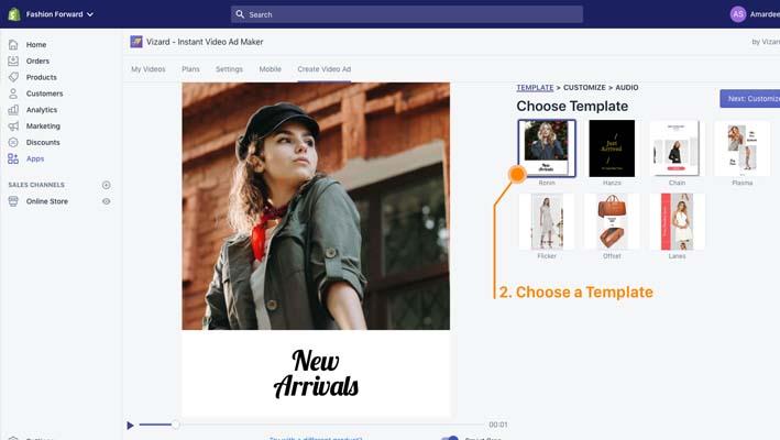Vizard - Instant Video Maker, app para crear videos para las tiendas de Shopify