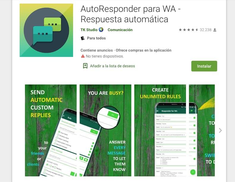 Herramientas para crear un WhatsApp bot: AutoResponder para WA
