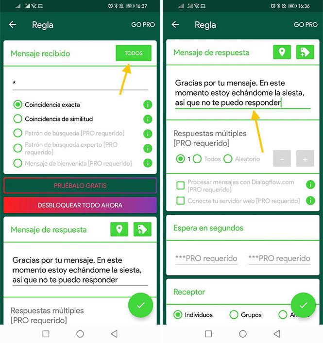 Cómo crear un WhatsApp bot en Android: configura las respuestas