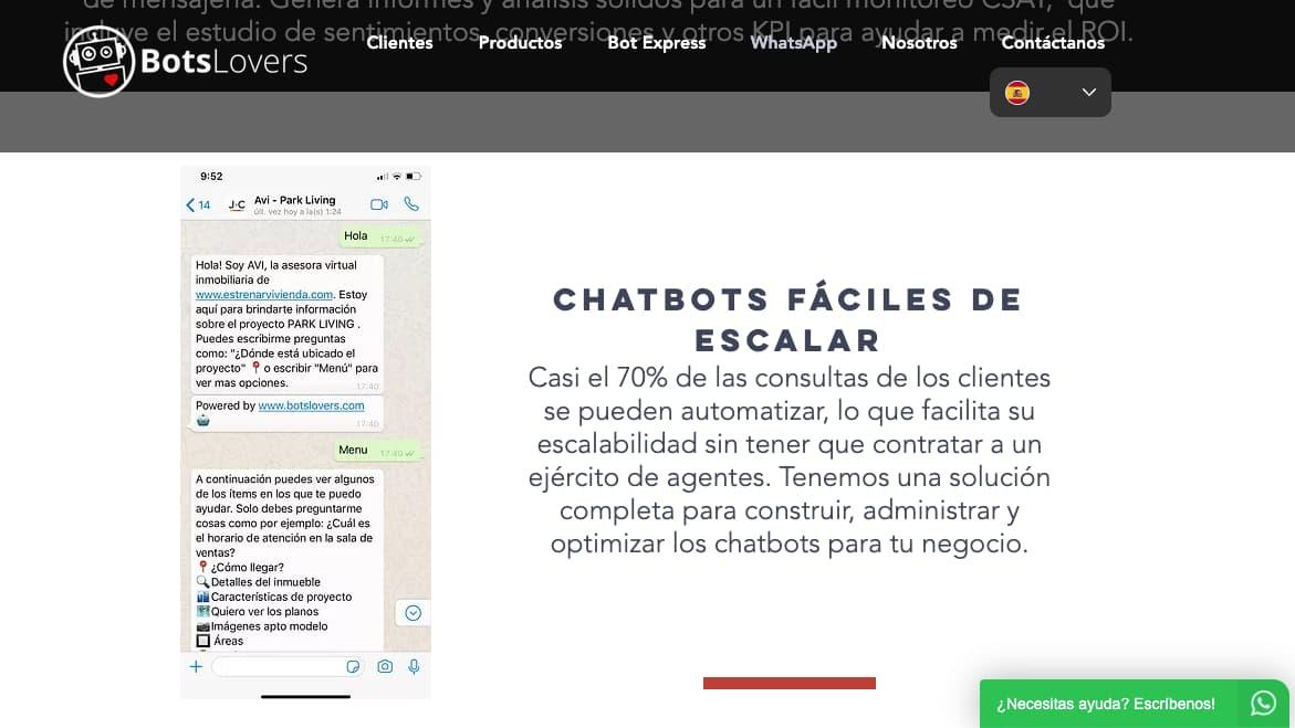 Herramientas para hacer un WhatsApp bot: BotsLovers