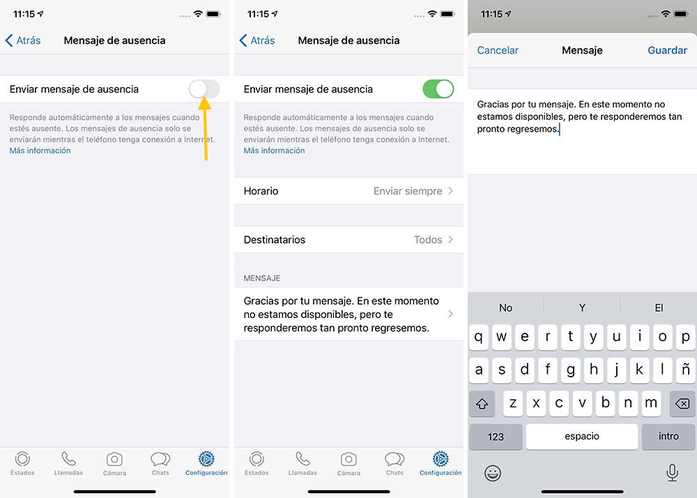 WhatsApp bot de WhatsApp Business para iOS